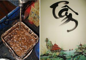 Hỗn hợp các hóa chất sau khi trộn để chế biến cà phê - Cần có cái TÂM trong nghề